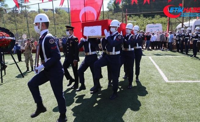 Giresun'daki selde şehit olan Uzman Jandarma Çavuş Erdem Çıtır son yolculuğuna uğurlandı