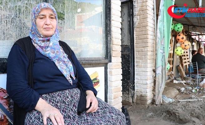 Giresun'daki selden etkilenenler yaşadıklarını anlattı