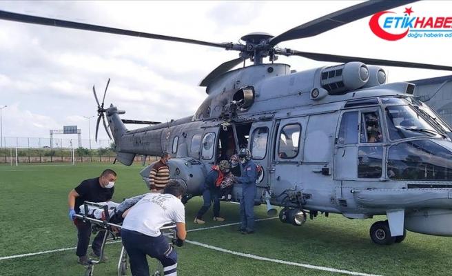 Hava Kuvvetleri Komutanlığından Giresun'daki arama kurtarma faaliyetlerine destek