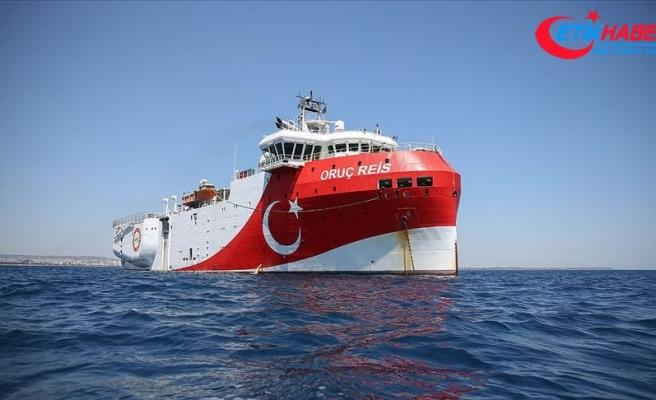 Oruç Reis gemisinin Doğu Akdeniz'deki çalışma süresi 1 Eylül'e kadar uzatıldı