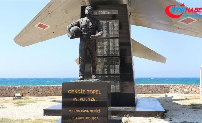 Şehit Pilot Yüzbaşı Cengiz Topel'in hatıraları KKTC'deki anıtında yaşatılıyor