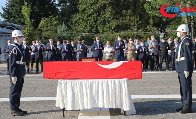 Selde şehit olan Jandarma Uzman Çavuş Onur Kıran için tören düzenlendi