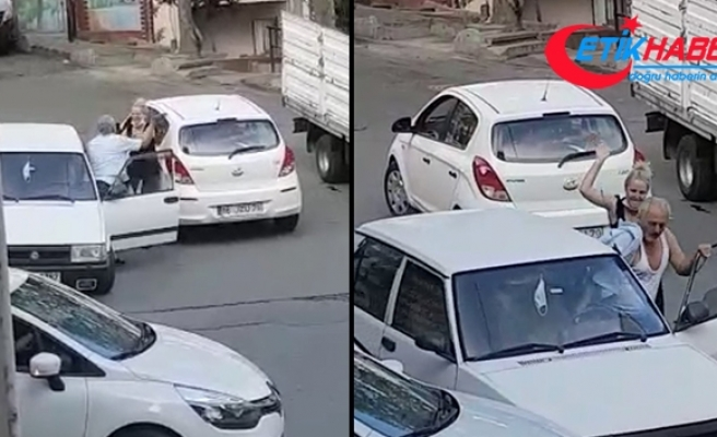 Trafikte yol verme kavgasında önce tokat attı sonra dayak yedi