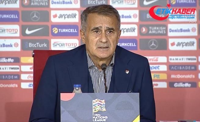 A Milli Futbol Takımı Teknik Direktörü Güneş: Kendi sahamızda kazanmak, iyi başlamak istiyorduk