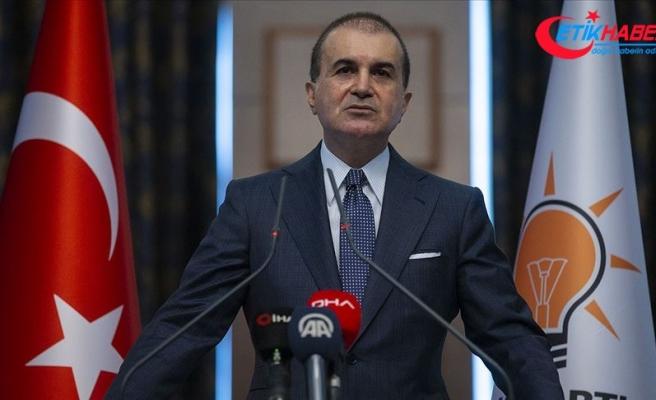 AK Parti Sözcüsü Çelik: Doğu Akdeniz'de haklarımıza göz dikenler bugün İzmir'deki irade ve kararlılığı iyi görsünler