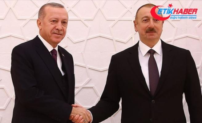 Cumhurbaşkanı Erdoğan Azerbaycan Cumhurbaşkanı Aliyev ile telefonda görüştü