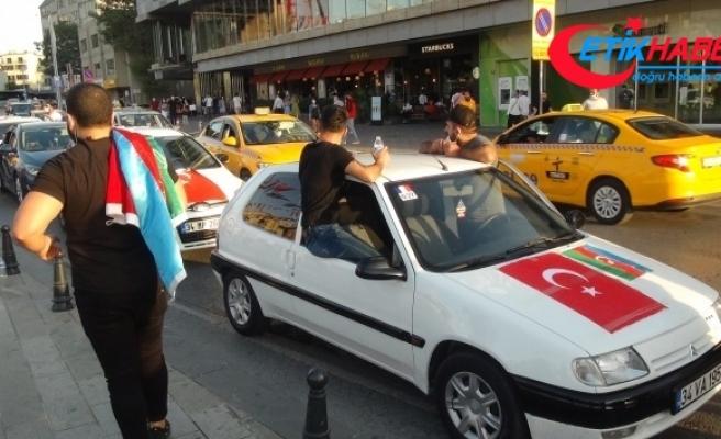Ermenistan'ın saldırısı Taksim Meydan'da protesto edildi