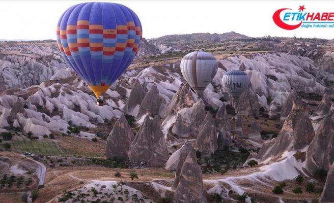 Kapadokya'yı 'yeni normal'de 255 bin turist gezdi