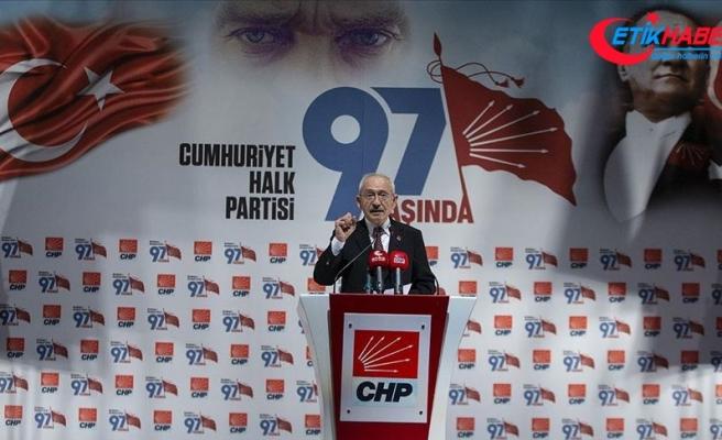 Kılıçdaroğlu: 97 yıl önce resmen kurulan Cumhuriyet Halk Partisi güçlenerek yaşamını sürdürüyor