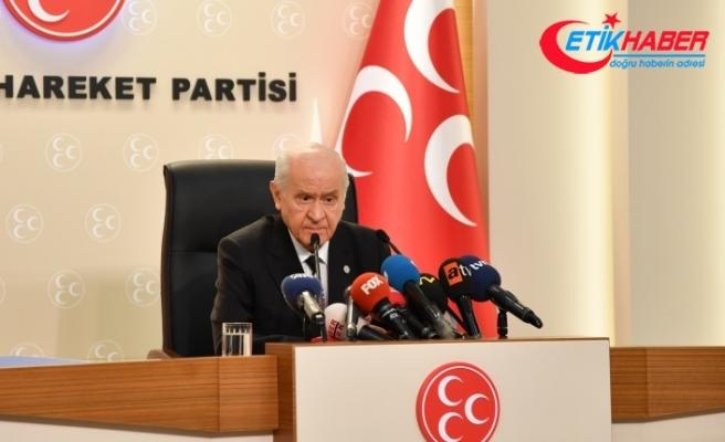 MHP Lideri Bahçeli: Seçimler zamanında yapılacaktır. Kimse boş hayale kapılmamalıdır