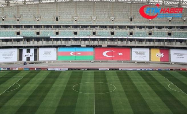 Neftçi-Galatasaray karşılaşmasının oynanacağı statta 'kardeşlik' pankartları