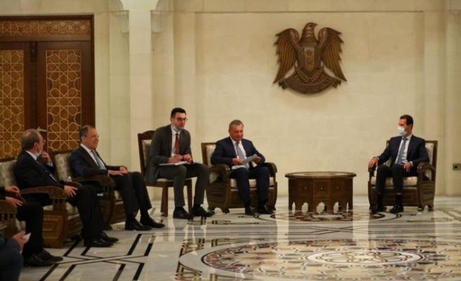 Rusya Dışişleri Bakanı Lavrov, Şam'da Esad'la görüştü
