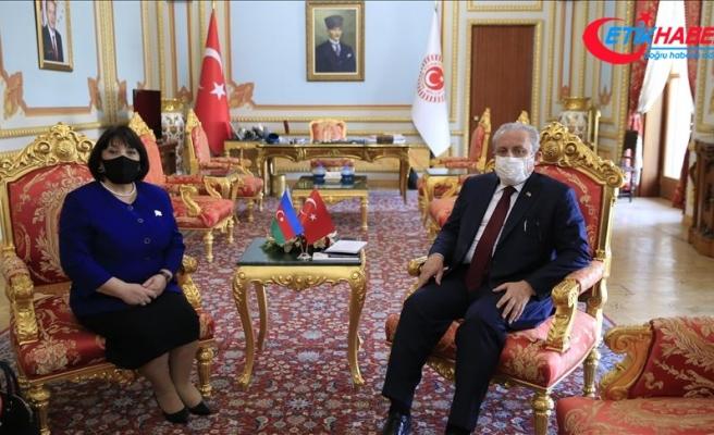 TBMM Başkanı Şentop, Azerbaycan Milli Meclis Başkanı Gafarova ile görüştü