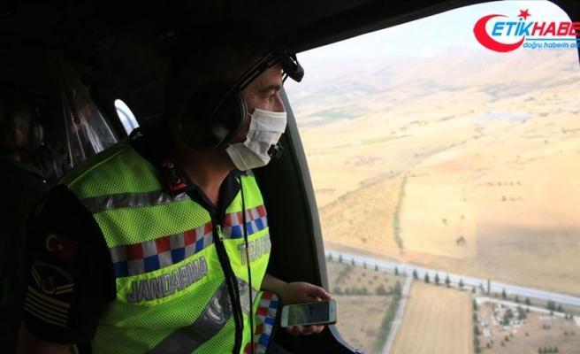 'Turizmin başkenti'nde havadan ve karadan denetimler yapan jandarma kuş uçurtmuyor