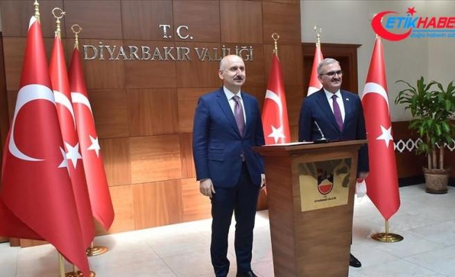 Ulaştırma ve Altyapı Bakanı Karaismailoğlu: 7 milyar liranın üzerinde Diyarbakır'da yapmış olduğumuz yatırımlar var