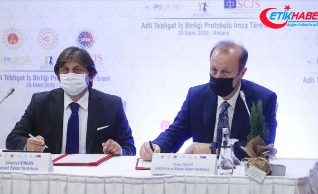 Adalet Bakanlığı ile PTT arasında 'Adli Tebligat İş Birliği Protokolü' imzalandı