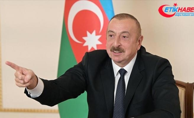 Azerbaycan Cumhurbaşkanı Aliyev: Dışarıdan bir saldırı gerçekleşirse o zaman Türk F-16'ları görecekler