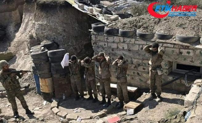 Azerbaycan ordusu bir grup Ermeni askerini esir olarak ele geçirdi