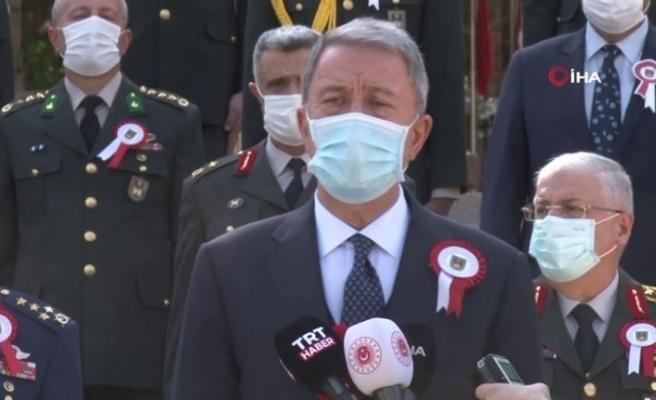 """Bakan Akar: """"Azerbaycan Türkü kardeşlerimizin yanında olmaya devam edeceğiz"""""""