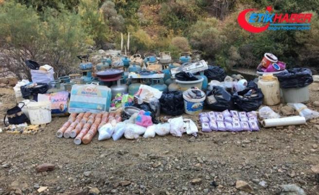 Bingöl'de 4 odalı sığınak ve EYP bulunarak imha edildi
