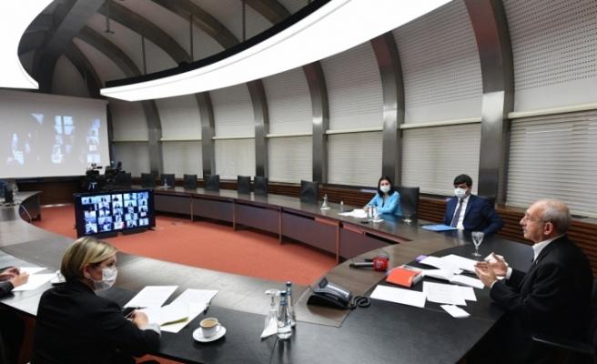CHP Genel Başkanı Kılıçdaroğlu, video konferans yöntemiyle gençlerle buluştu: