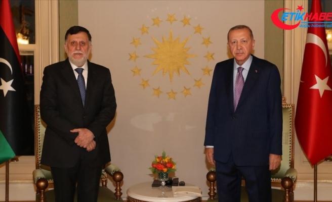 Cumhurbaşkanı Erdoğan'ın, Libya Başbakanı Serrac'ı kabulü başladı