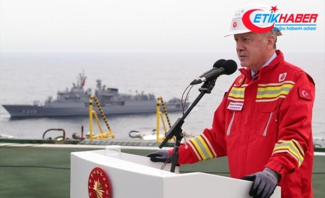 Cumhurbaşkanı Erdoğan: Sakarya Sahası'nın Tuna-1 bölgesindeki toplam doğal gaz rezervi 405 milyar metreküpü buldu