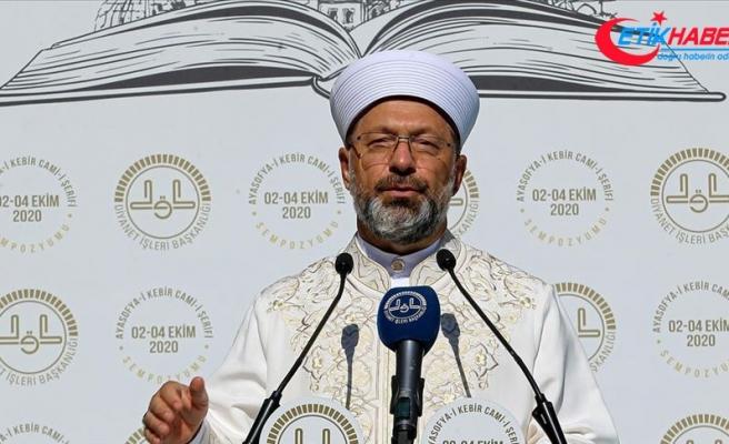 """Diyanet İşleri Başkanı Erbaş """"Camiler ve Din Görevlileri Haftası Programı""""nda konuştu:"""