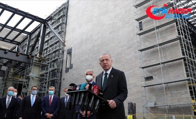 Erdoğan: Taksim Camisi inşaatının ramazan ayı içerisinde yetişmesine dair bilgi aldım