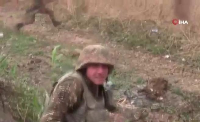 Ermeni cephesindeki panik görüntülendi