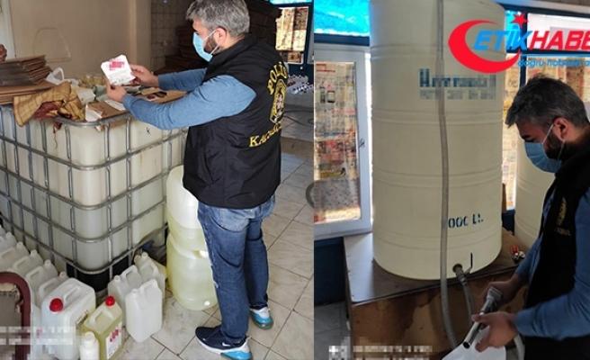 Esenyurt'ta sahte içki operasyonu: 6 ton etil alkol ele geçirildi