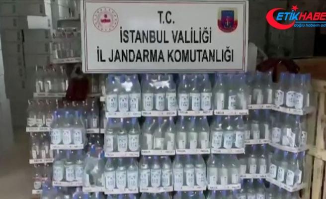 İstanbul'da 1500 litre sahte içki ele geçirildi