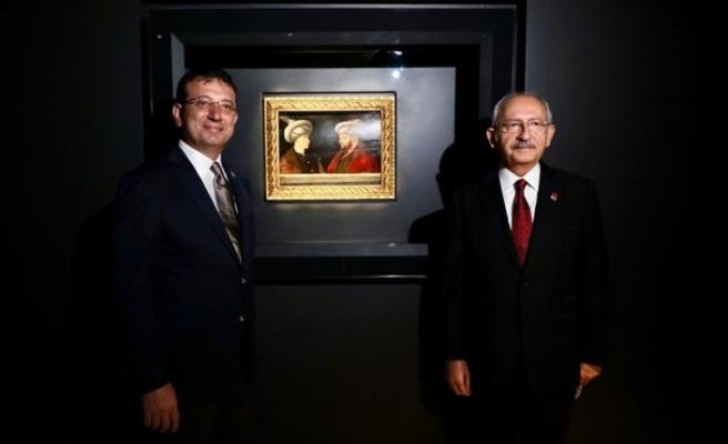 Kılıçdaroğlu, Fatih Sultan Mehmet tablosunun ön gösterimine katıldı