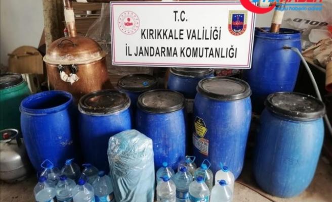 Kırıkkale'de 1150 litre sahte rakı ve şarap ele geçirildi