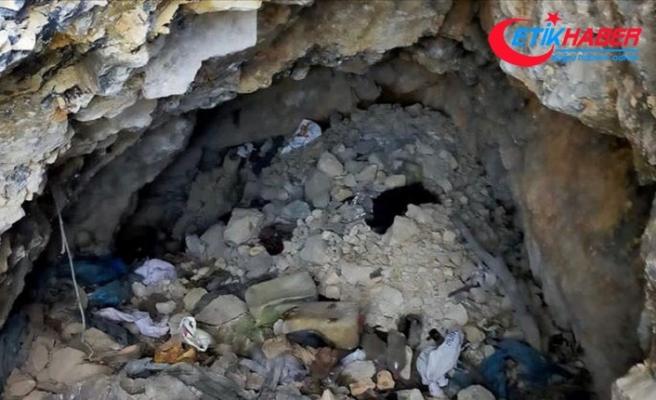 Tunceli'de teröristlerin kullandığı birer sığınak ve mağara imha edildi