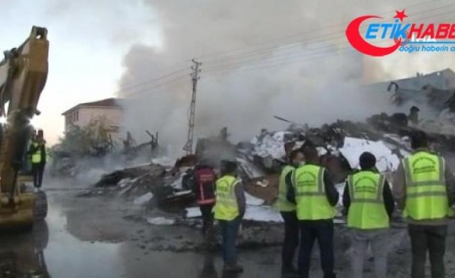 Ankara'da korkutan yangından geriye küller kaldı