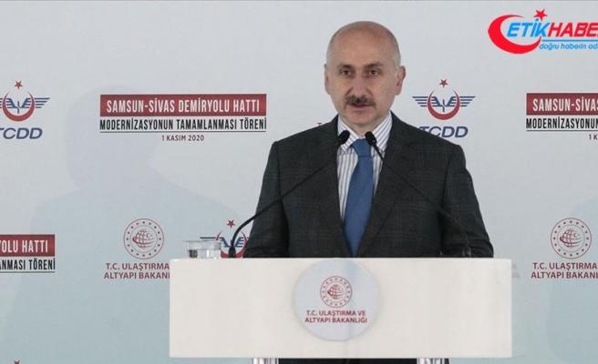 Bakan Karaismailoğlu: Samsun-Sivas Demir Yolu Hattının modernizasyonla kapasitesi iki katına çıktı