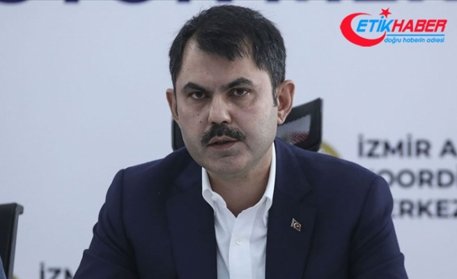 Bakan Kurum: İzmir'de bugüne kadar 4 bin 424 binada hasar tespit çalışmalarını yaptık
