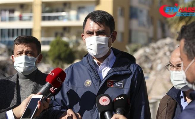 Bakan Kurum: Şu an İzmir için acil yıkılacak, ağır hasarlı ve yıkık bina sayımız 342