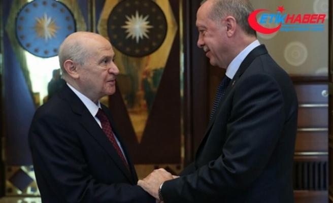 Cumhurbaşkanı Erdoğan ve MHP Lideri Bahçeli'den KKTC'ye ziyaret