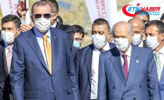 Cumhurbaşkanı Erdoğan ve MHP Lideri Devlet Bahçeli KKTC'de