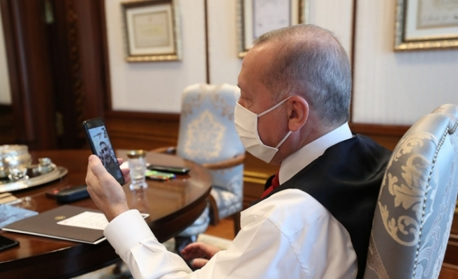 Cumhurbaşkanı Erdoğan, Avusturya'daki kahraman Türklerle konuştu