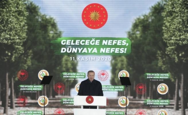 """Cumhurbaşkanı Erdoğan, """"Geleceğe Nefes, Dünyaya Nefes Programı""""nda konuştu:"""
