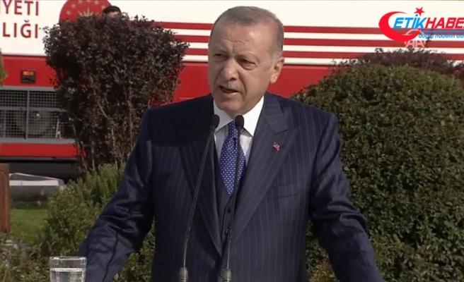 Cumhurbaşkanı Erdoğan: Türk ordusunun hiçbir birliğinin sancağı son neferi de can vermeden toprağa düşmemiştir