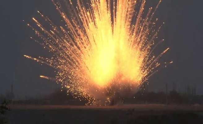 Ermenistan'ın Terter'e attığı yasaklı fosforlu top mermileri imha edildi