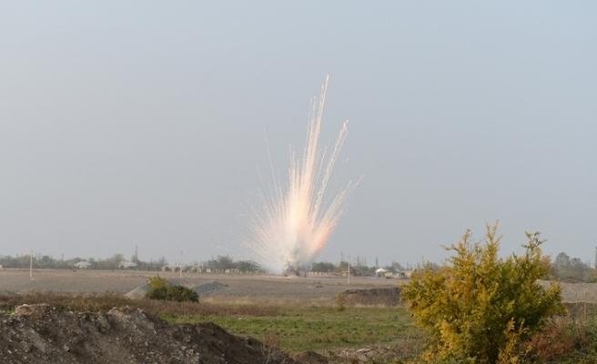 Ermenistan'ın Terter'e attığı yasaklı fosforlu top mermisi imha edildi