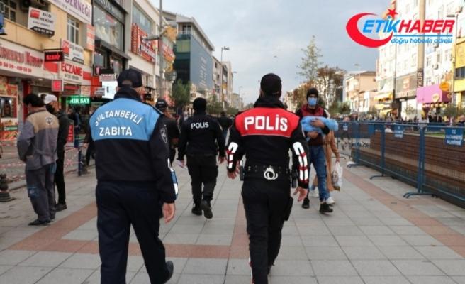 Maske, kurallarına uymayan bin 325 kişiye Sultanbeyli'de 1 milyon 595 bin lira para cezası kesildi