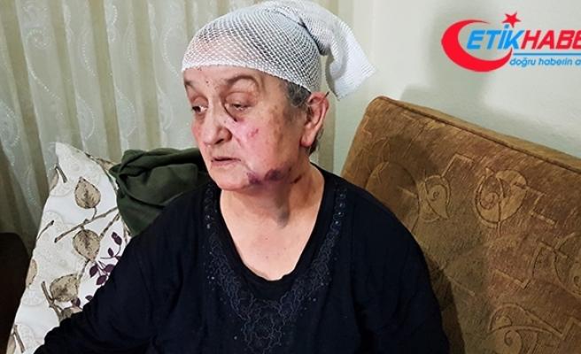 Yaşlı kadın hırsızın elinden ölü numarası yaparak kurtuldu