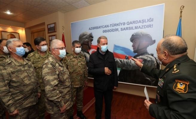 Akar ve komuta kademesinden sürpriz Azerbaycan ziyareti