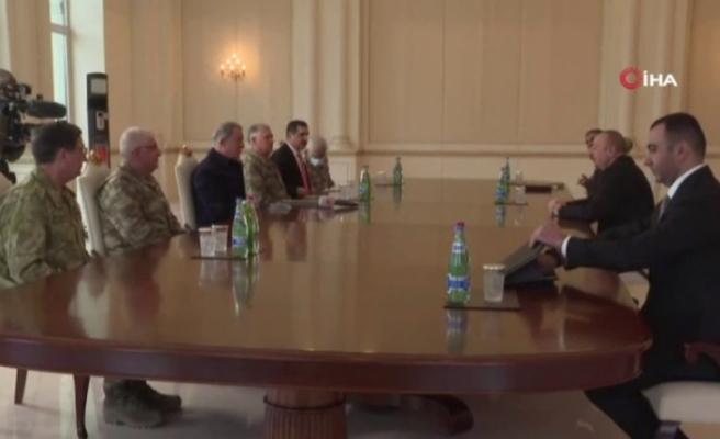 Akar ve TSK komuta kademesi Azerbaycan Cumhurbaşkanı Aliyev ile görüştü